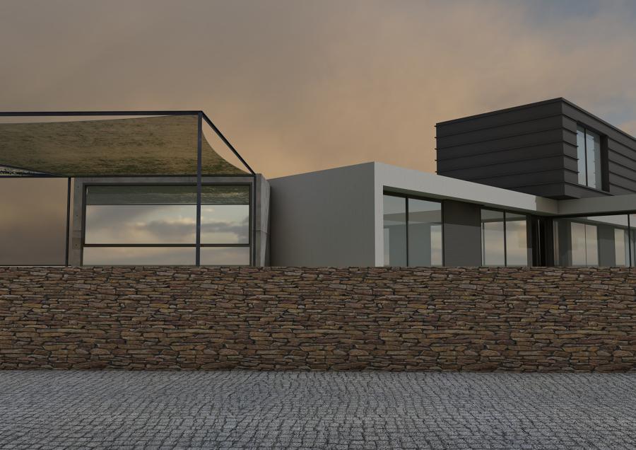 3D fachada posterior