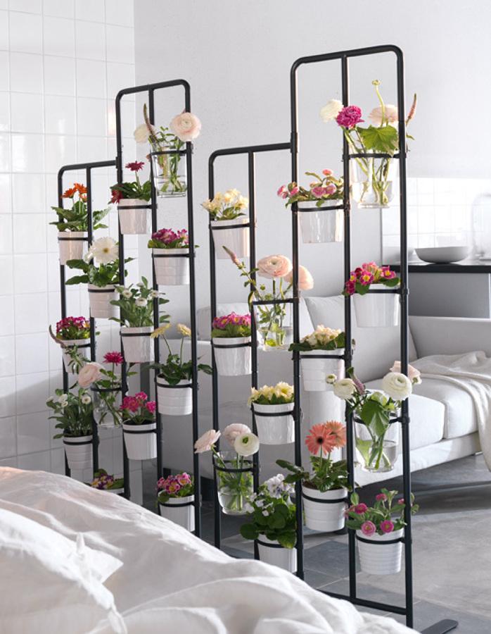 separando ambientes com plantas