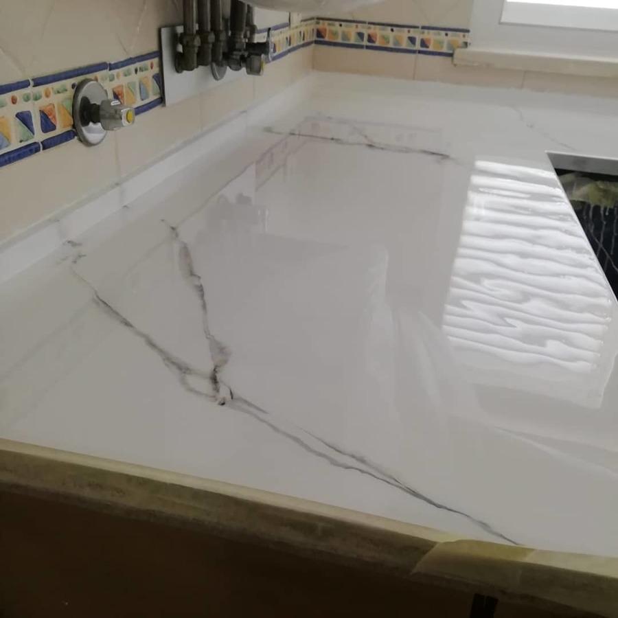 Bancada marmorizado branco