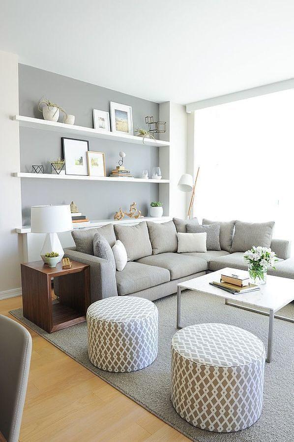 Branco e cinzento para elegantes salas de jantar