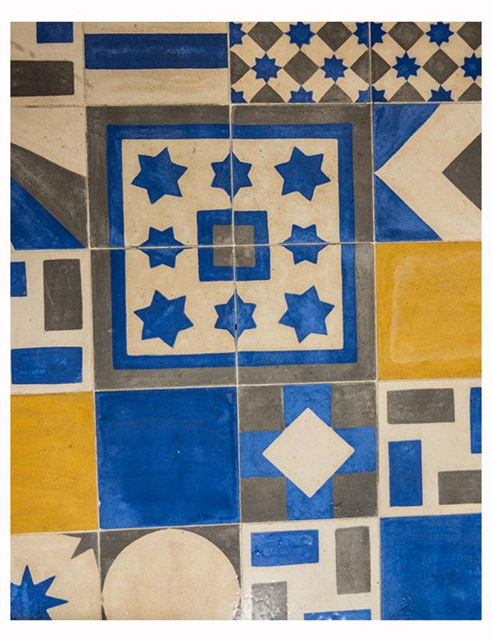 Casa de banho com mosaico hidráulico