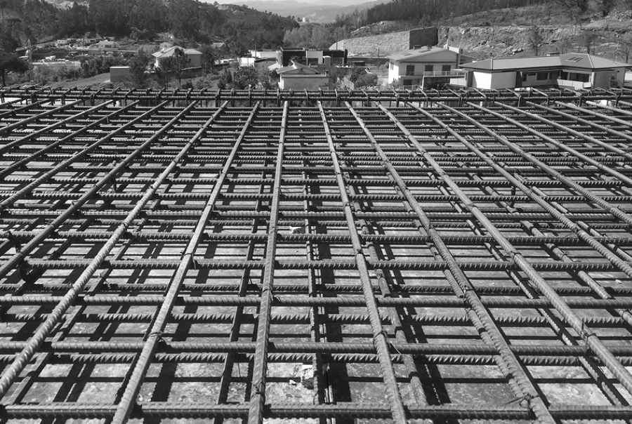 Construção da laje de piso