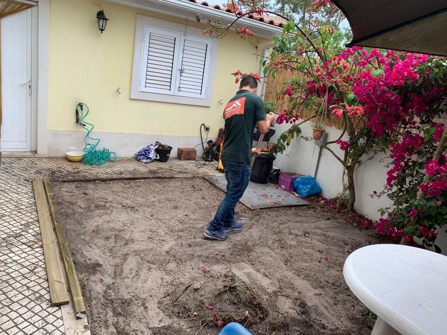 construção de de deck no jardim