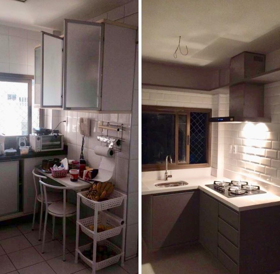 Cozinha antes e depois !
