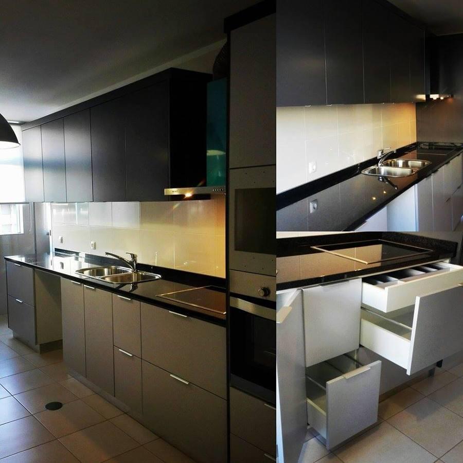 Foto Cozinha Lacada Com Granito Preto De Sg Ind Stria De Mobiliario