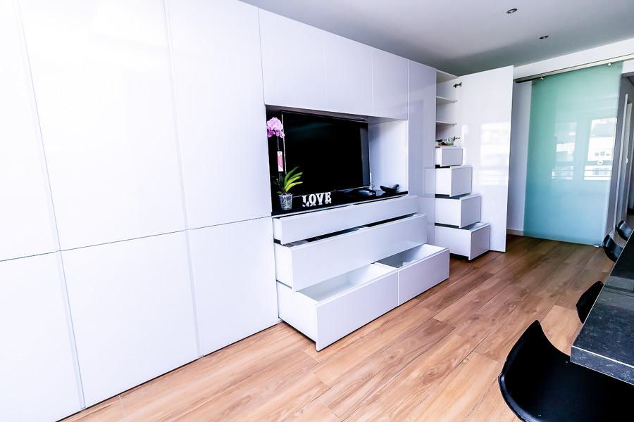 Cozinha MDF Hidrófugo lacado.