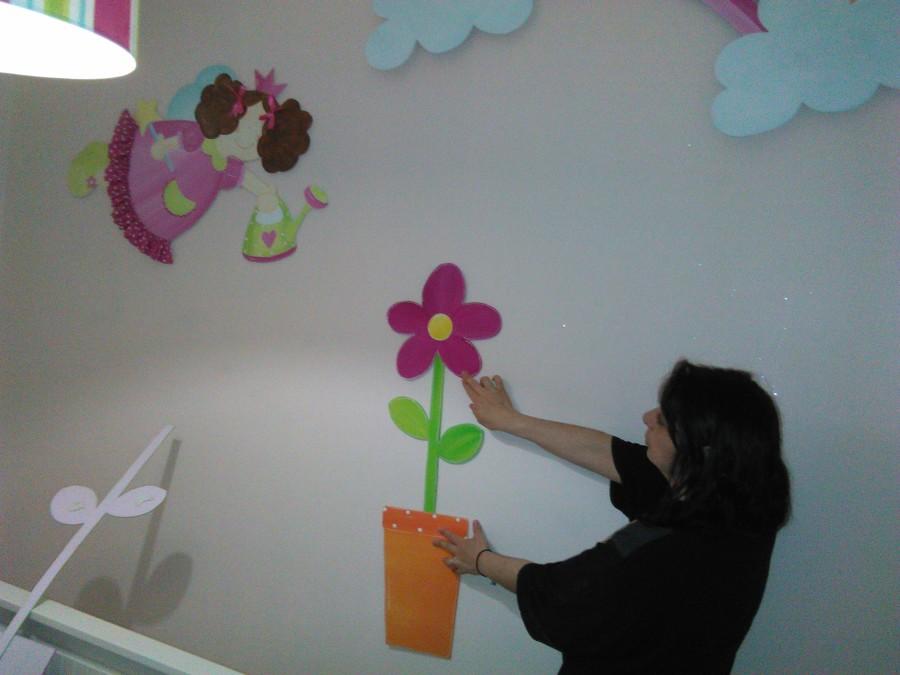 decoração de quarto infantil de menina em craft
