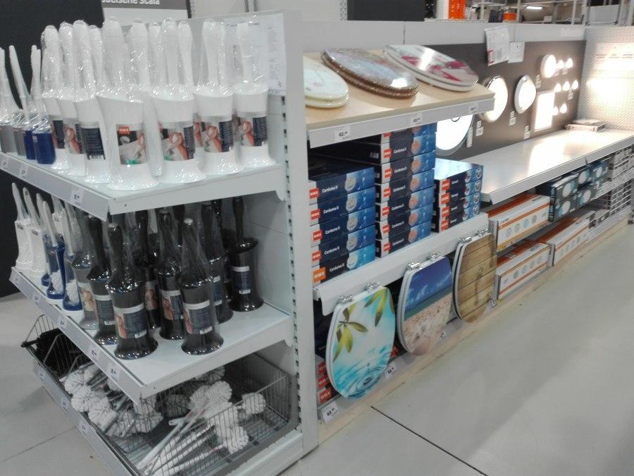 Display de Acessorios de Banhos e iluminação