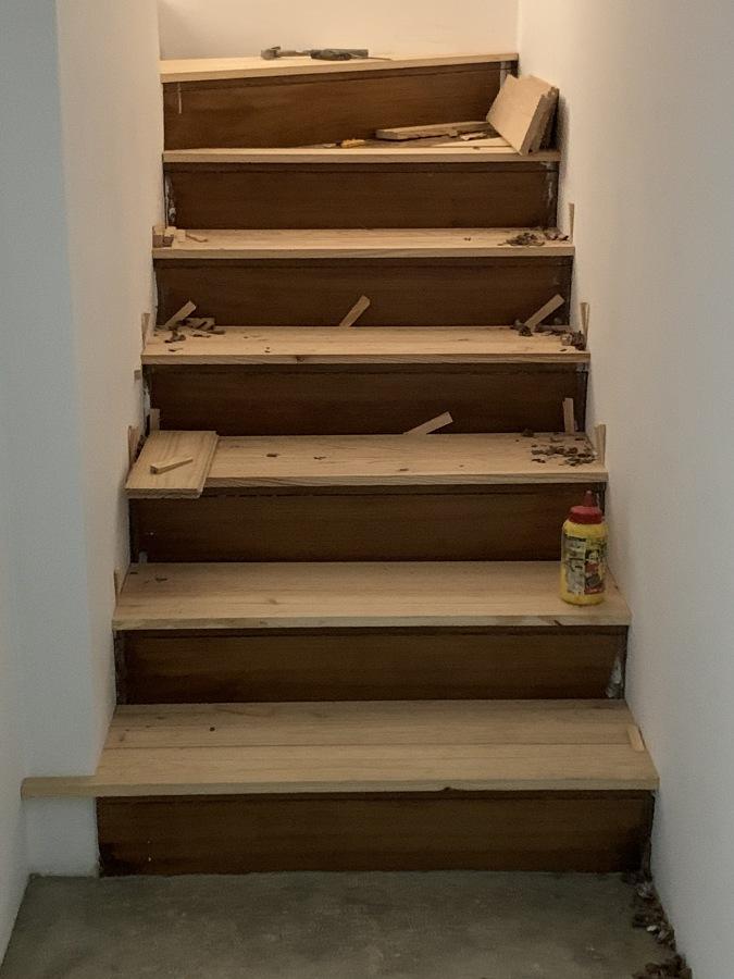 Durante a obra - Escadaria