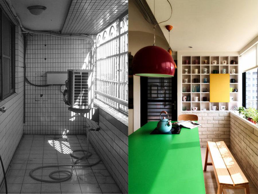 Galeria integrada na cozinha
