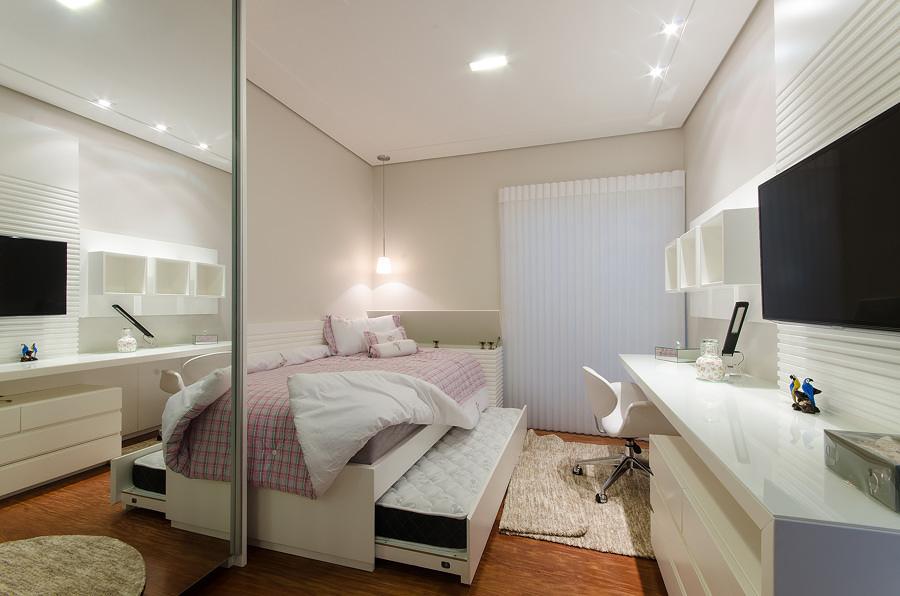 Beliche clássico em quarto pequeno