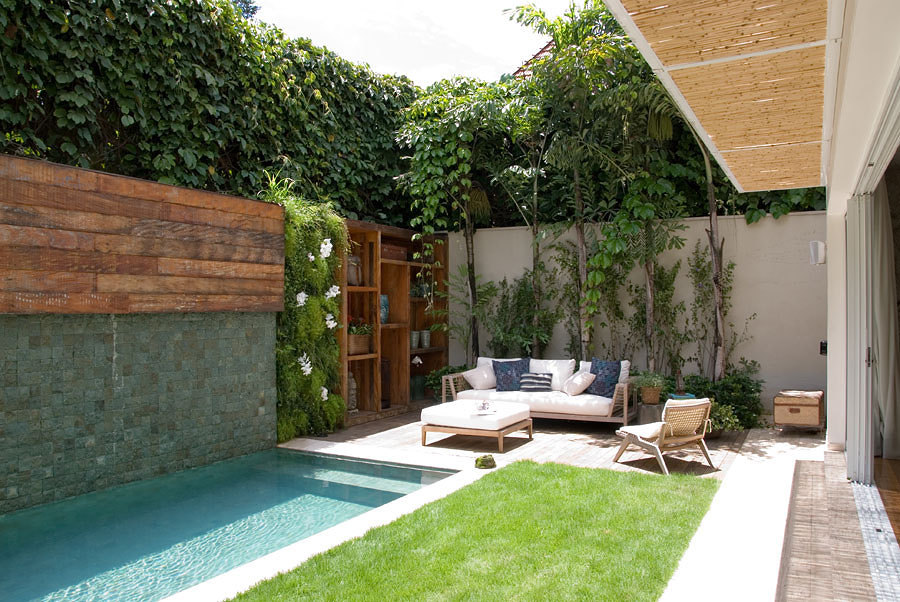 patio com piscina