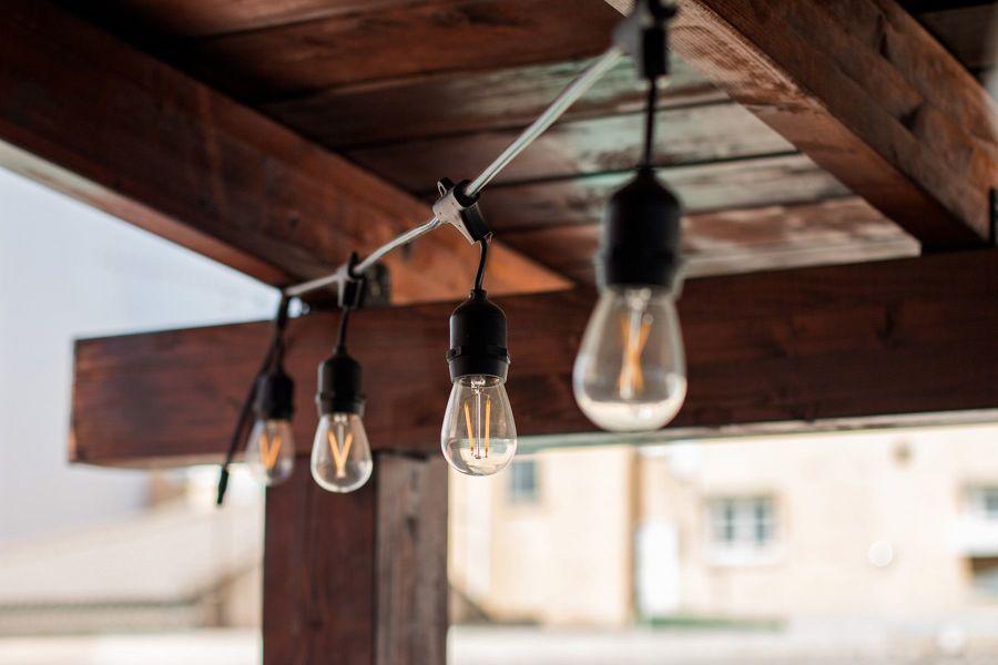 iluminaçao na varanda