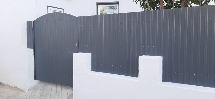 Instalação de portão para entrada de moto