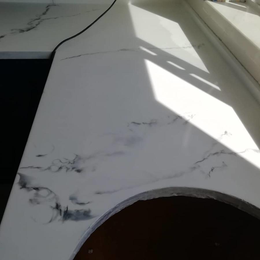 Marmorizado branco