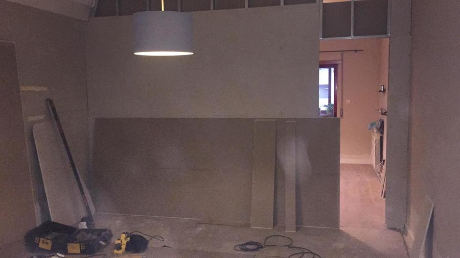 parede da sala em execução