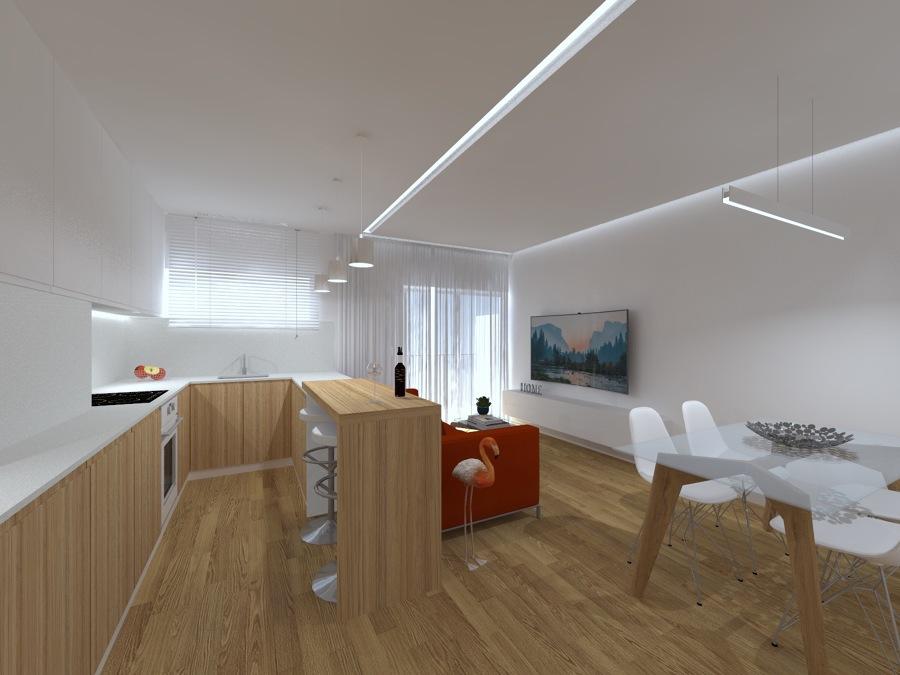 Perspectiva 5 - Vista Cozinha/Sala