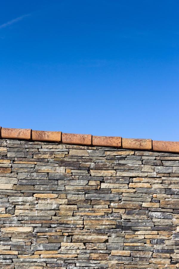 Pormenor das paredes e telhado