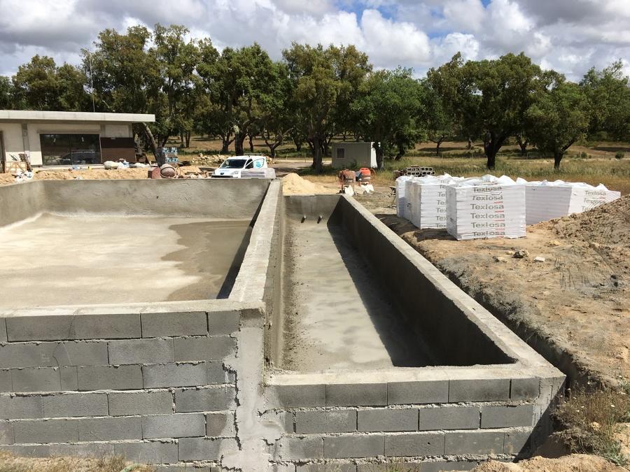 projeção de betão terminada