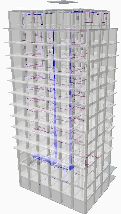 Projeto de Águas e esgotos edifício Conjunto habitacional - Olaias