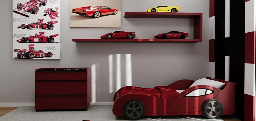 Quarto Ferrari_ Vista da Cama