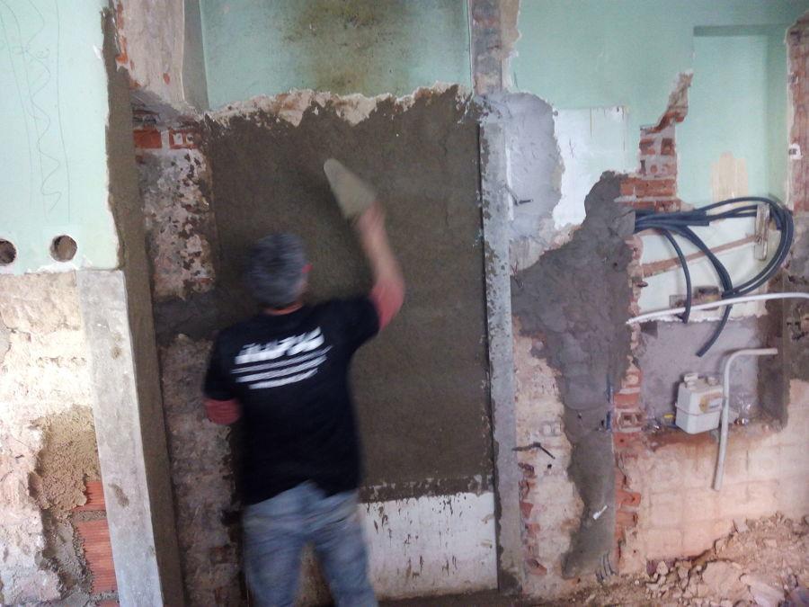 reboco de paredes