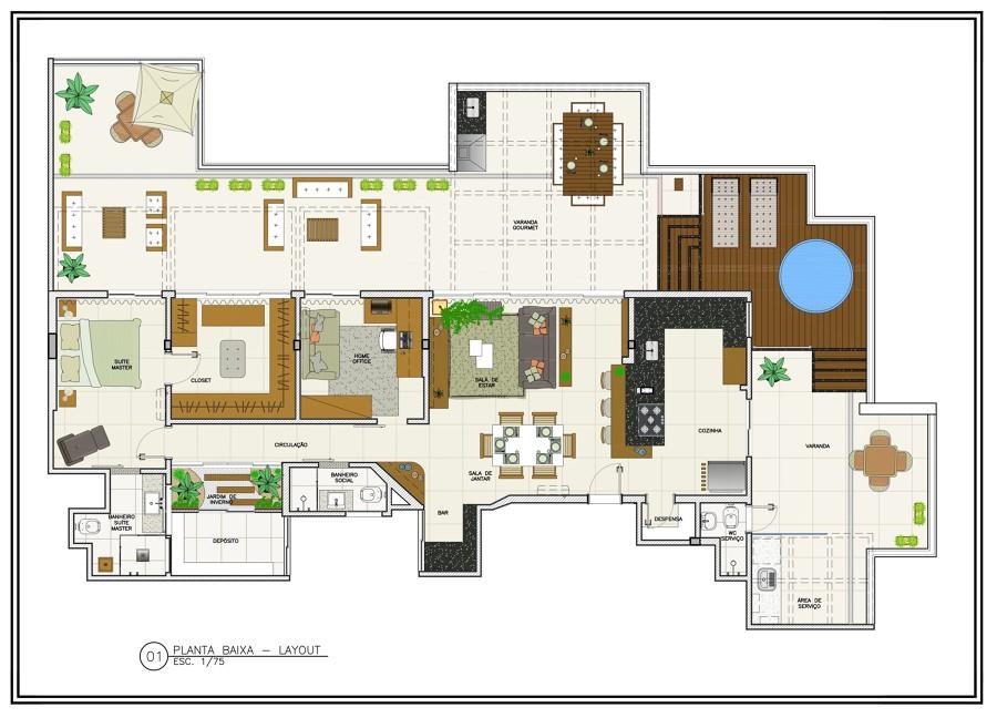 Remodelação apartamento - Planta de Layout