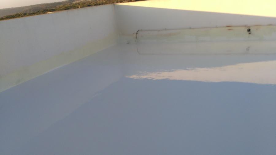 Terraço isolado termicamente e impermeabilizado com poliureia