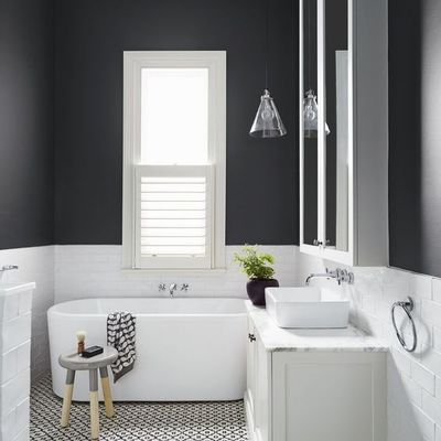 Arrisque com a pintura na casa de banho