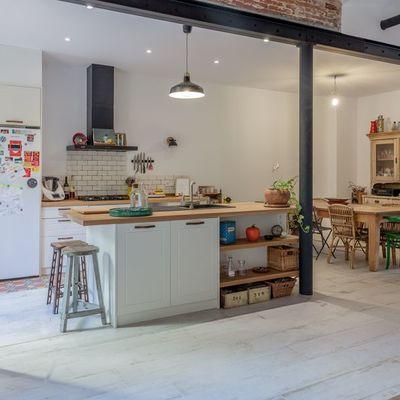 7 cozinhas pequenas abertas para a sala