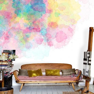 A clássica pintura de paredes com toques diferentes