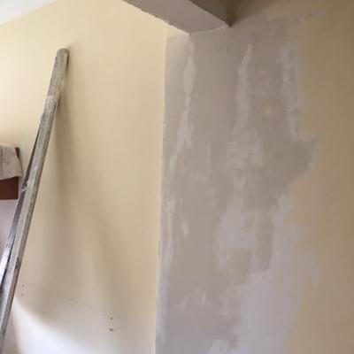 Acabamento de Viga e Construção parede de pladur