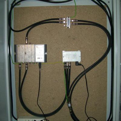 Instalação de infrastrutura de telecomunicações da escola.