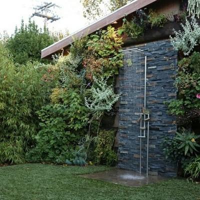 Construa um chuveiro no seu jardim ou terraço