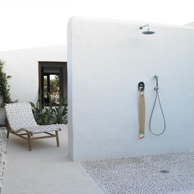 Chuveiros no terraço