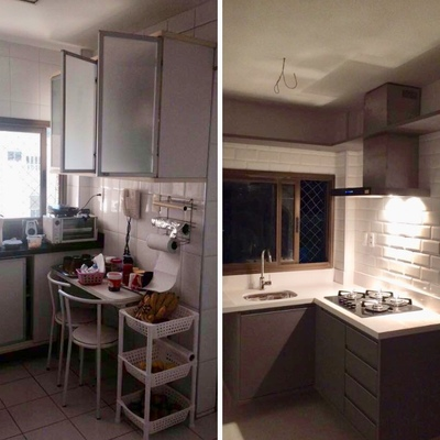 Cozinha Antes e depois projeto executado!