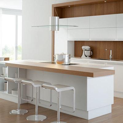 Cozinha carvalho natural e lacado