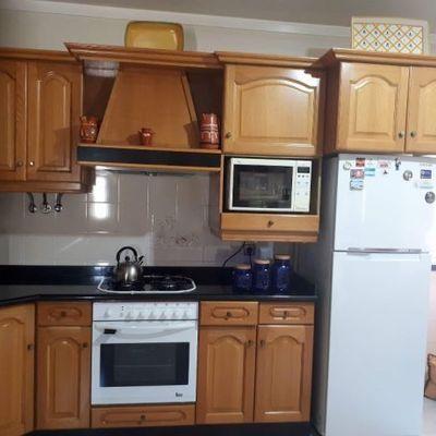 Projeto profissional: Antes e depois de reforma de sala e cozinha