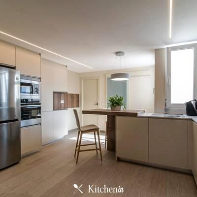 Projeto de cozinha em duas frentes