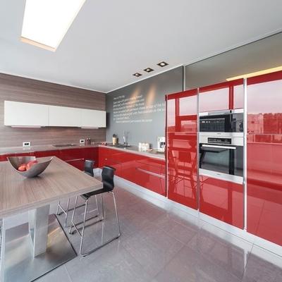 Cozinhas vermelhas para cozinhar com paixão