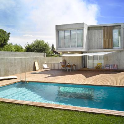 Uma casa com uma piscina surpreendente
