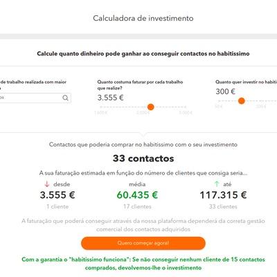 Novidade: conheça a nova calculadora de investimento do Habitissimo