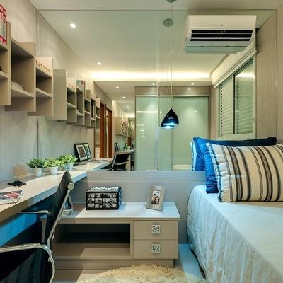 10 soluções para quartos pequenos