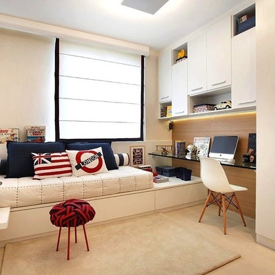 Soluções para quartos pequenos