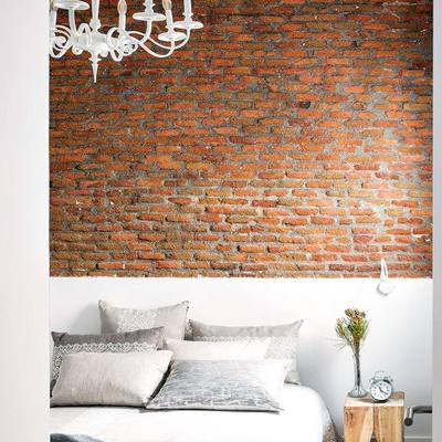 parede de tijolos vermelhos na habitação