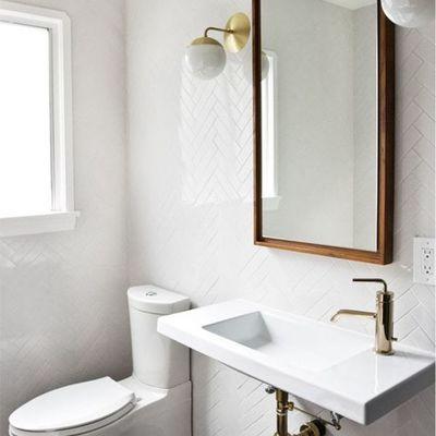 casa de banho iluminada