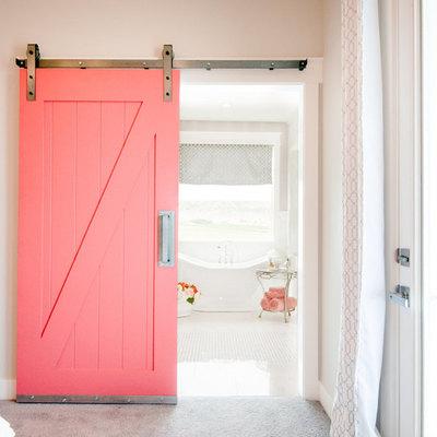 porta de correr rosa