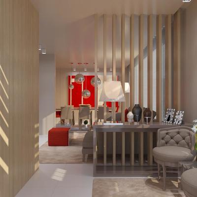 Projeto de Design de Interiores e Decoração - sala e quartos - Apartamento