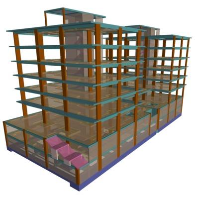 Edificação: 2 prédios para habitação e estabelecimento comercial