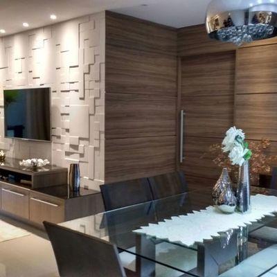 Ambientes integrados e cores relaxantes